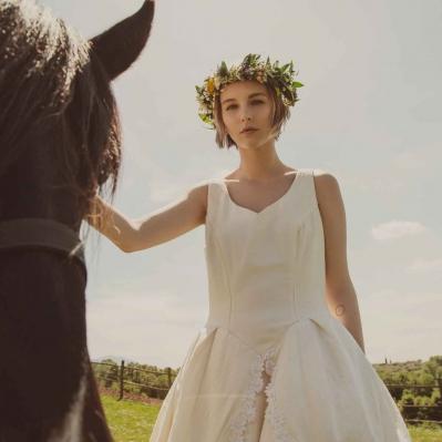 abito da sposa vintage gonne al vento Roma