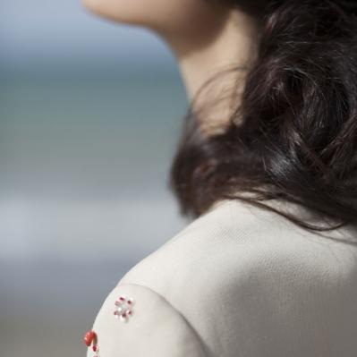 Dettaglio applicazioni abito sartoriale anni 60 Mercurio Vintage