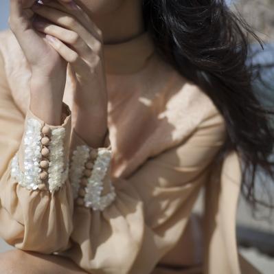 Dettaglio paillettes abito anni 70 Mercurio Vintage