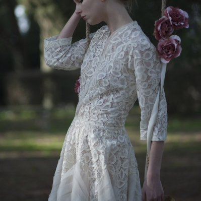 abito da sposa anni 50 Sartoria Cassisi  Vertigo vintage